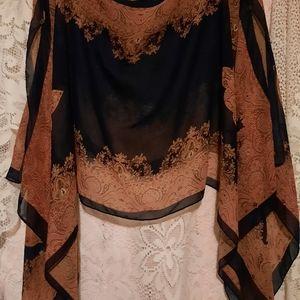 Vintage Silky Drape Top